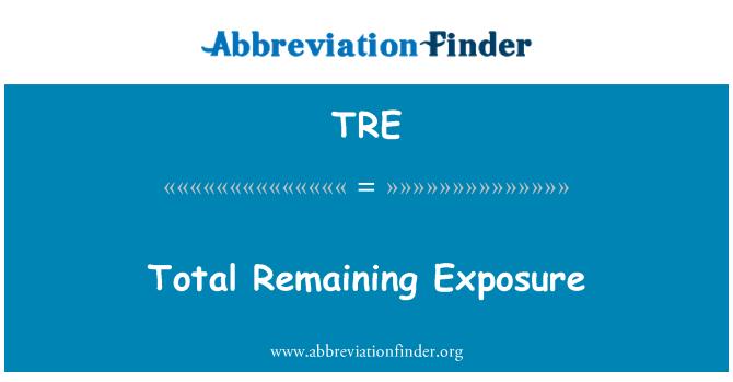 TRE: Total Remaining Exposure
