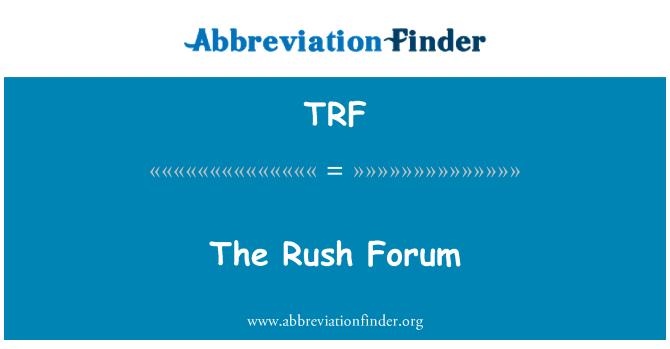 TRF: The Rush Forum