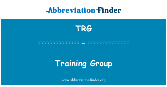 TRG: Training Group