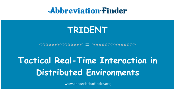 TRIDENT: Tactical Real-Time Interaction in Distributed Environments