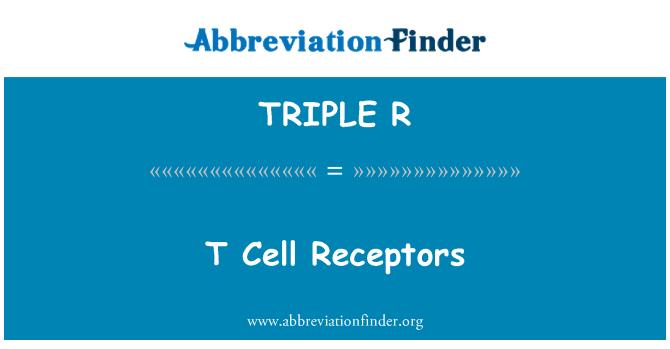 TRIPLE R: Receptores de las células T