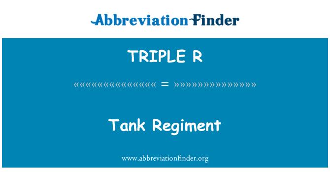 TRIPLE R: Regimiento de tanques