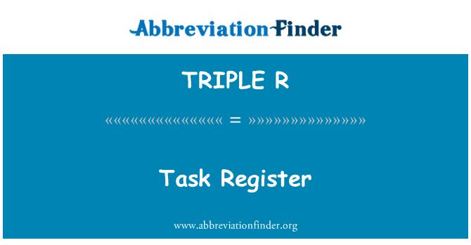 TRIPLE R: Registro de tareas