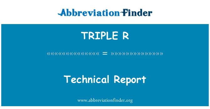 TRIPLE R: Informe técnico