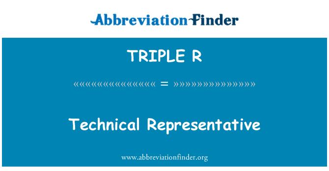 TRIPLE R: Representante Tecnico
