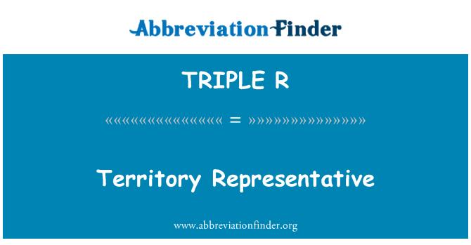 TRIPLE R: Representante del territorio