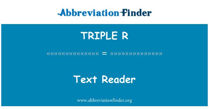 TRIPLE R: Lector de texto