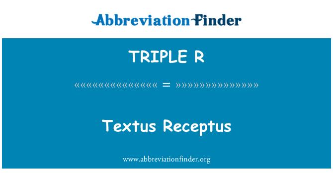 TRIPLE R: Textus Receptus