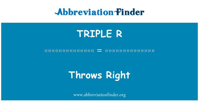 TRIPLE R: Lanza derecha