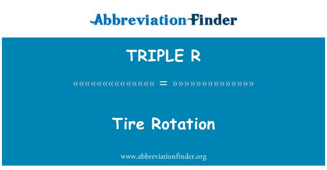 TRIPLE R: Rotación de neumáticos