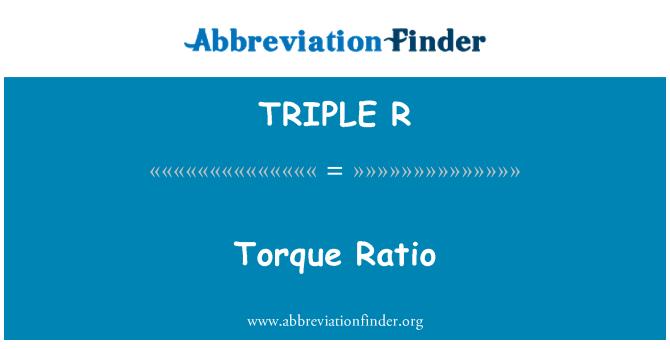 TRIPLE R: Cociente del esfuerzo de torsión
