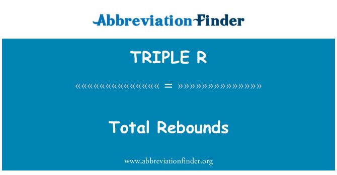 TRIPLE R: Rebotes totales