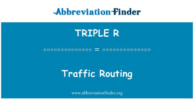 TRIPLE R: Distribución del tráfico