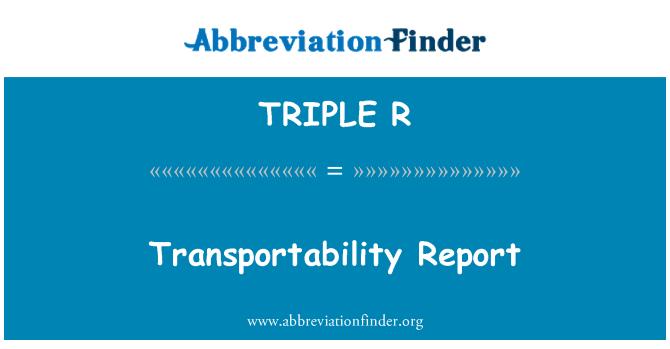 TRIPLE R: Informe transportabilidad