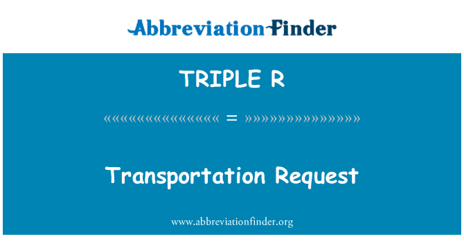 TRIPLE R: Solicitud de transporte