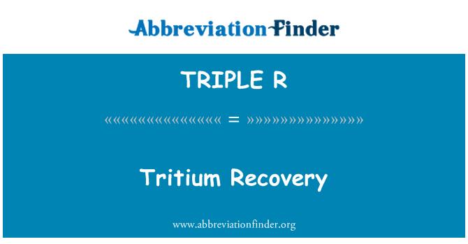 TRIPLE R: Recuperación de tritio