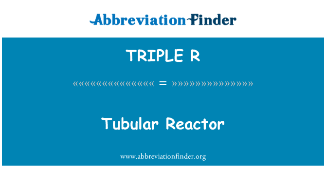 TRIPLE R: Reactor tubular