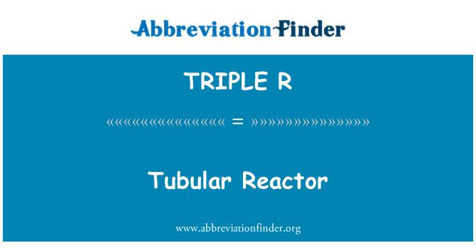 TRIPLE R: Reactor tubular