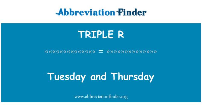 TRIPLE R: El martes y el jueves