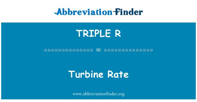 TRIPLE R: Tipo de turbina