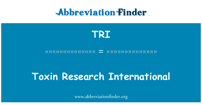 TRI: Toxin Research International