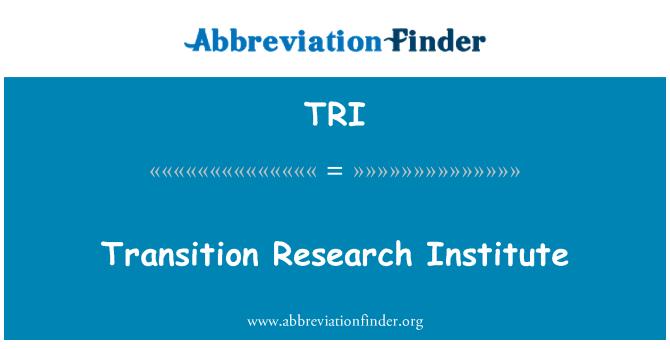 TRI: Transition Research Institute
