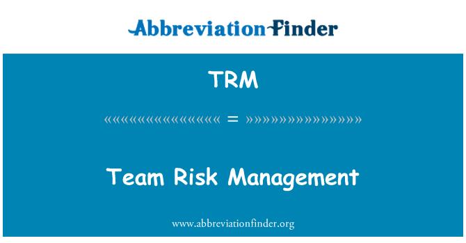 TRM: Team Risk Management