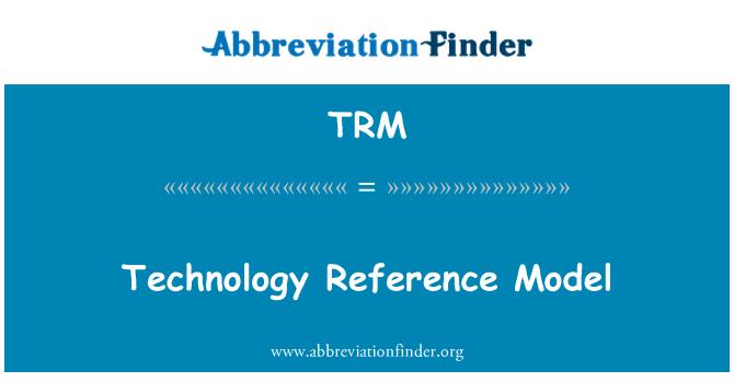 TRM: Technology Reference Model