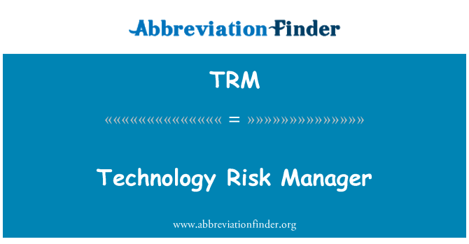 TRM: Technology Risk Manager