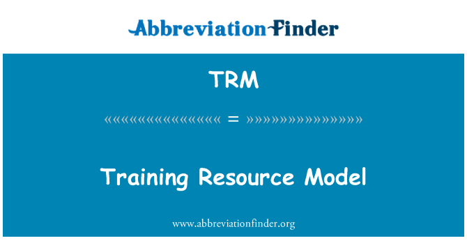 TRM: Training Resource Model