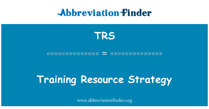 TRS: Training Resource Strategy