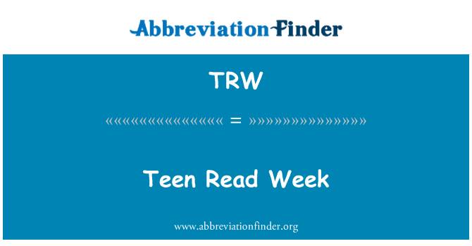 TRW: Teen Read Week
