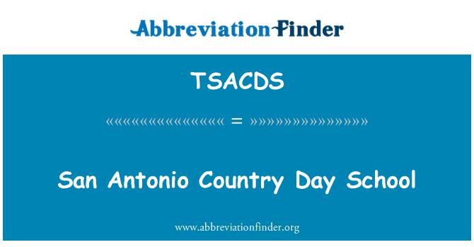 TSACDS: San Antonio Country Day School