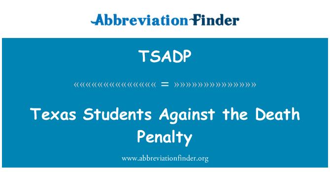 TSADP: Teksasu studenti protiv smrtne kazne