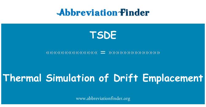 TSDE: 热模拟漂移侵位