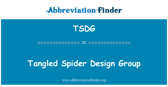 TSDG: Tangled Spider Design Group