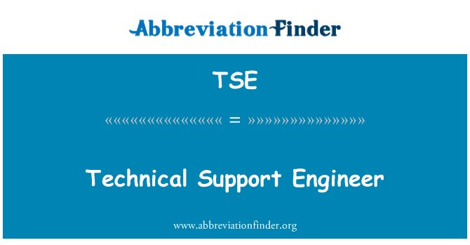 TSE: Technical Support Engineer