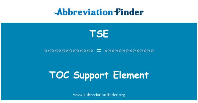 TSE: TOC Support Element
