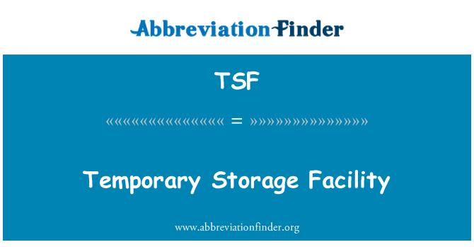 TSF: Temporary Storage Facility