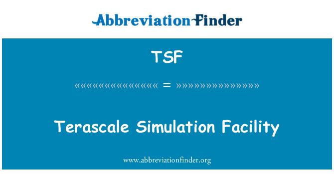 TSF: Terascale Simulation Facility