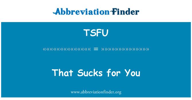 TSFU: Eso apesta