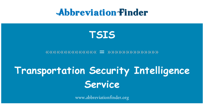 TSIS: Servicio de inteligencia de seguridad de transporte