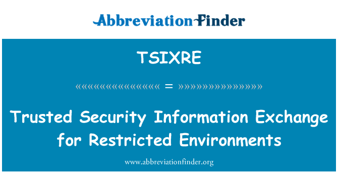 TSIXRE: Trusted Security Information Exchange for Restricted Environments