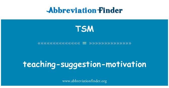 TSM: teaching-suggestion-motivation