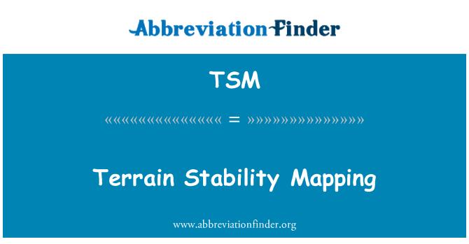 TSM: Terrain Stability Mapping