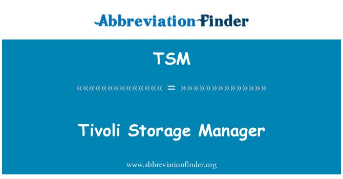 TSM: Tivoli Storage Manager