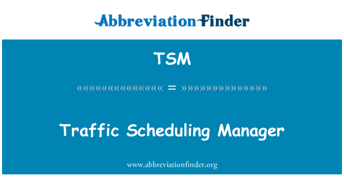 TSM: Traffic Scheduling Manager
