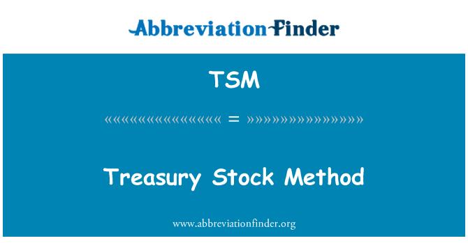 TSM: Treasury Stock Method