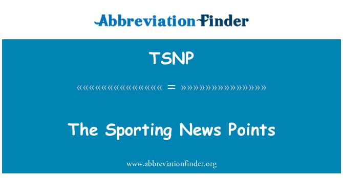 TSNP: The Sporting News Points