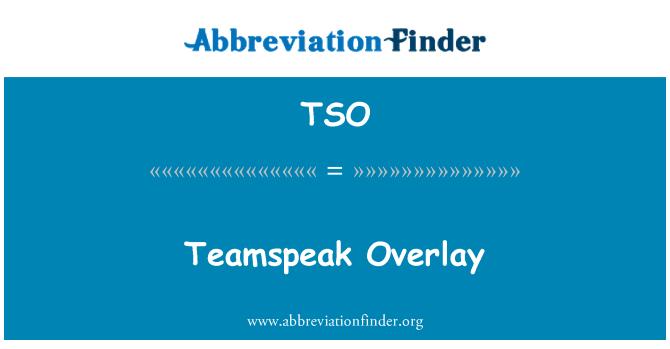 TSO: Teamspeak Overlay